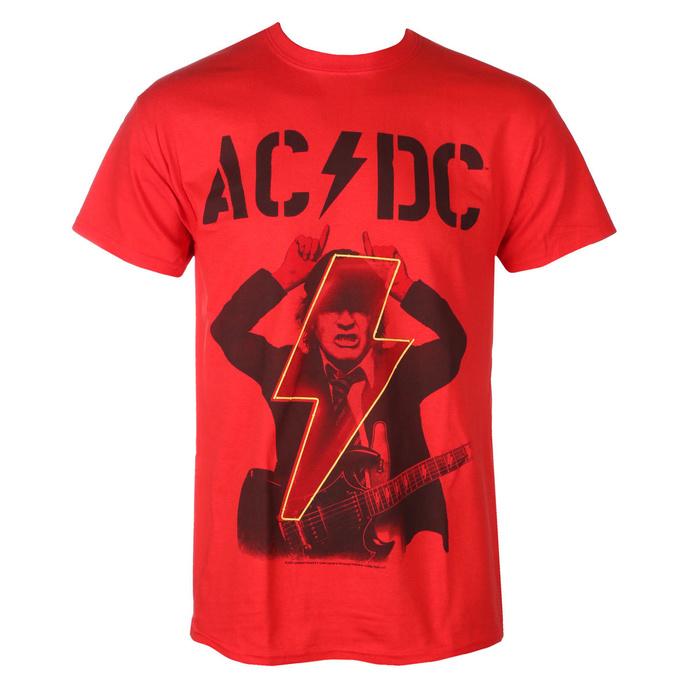 Herren T-Shirt AC / DC - Angus - POWER UP - Rot - RAZAMATAZ