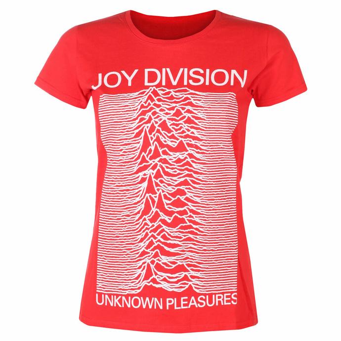 Damen-T-Shirt Joy Division - Unknown Pleasures FP ROT - ROCK OFF