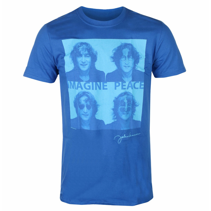 Herren-T-Shirt John Lennon - Brille 4 Up BLAU - ROCK OFF