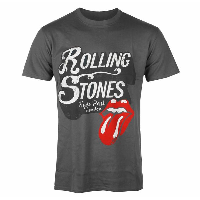 Herren-T-Shirt Rolling Stones - Hyde Park CHAR - ROCK OFF