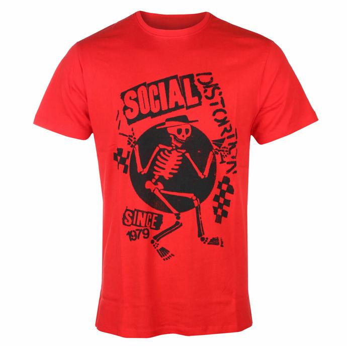 Herren-T-Shirt Social Distortion - Speakeasy Checkerboard ROT - ROCK OFF