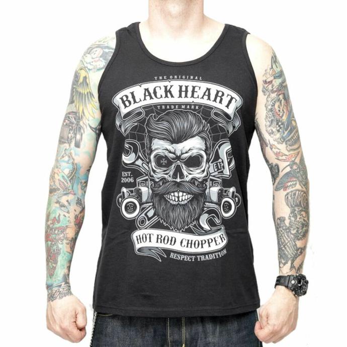 Herren Tanktop BLACK HEART - RESPECT TRADITIONAL - SCHWARZ