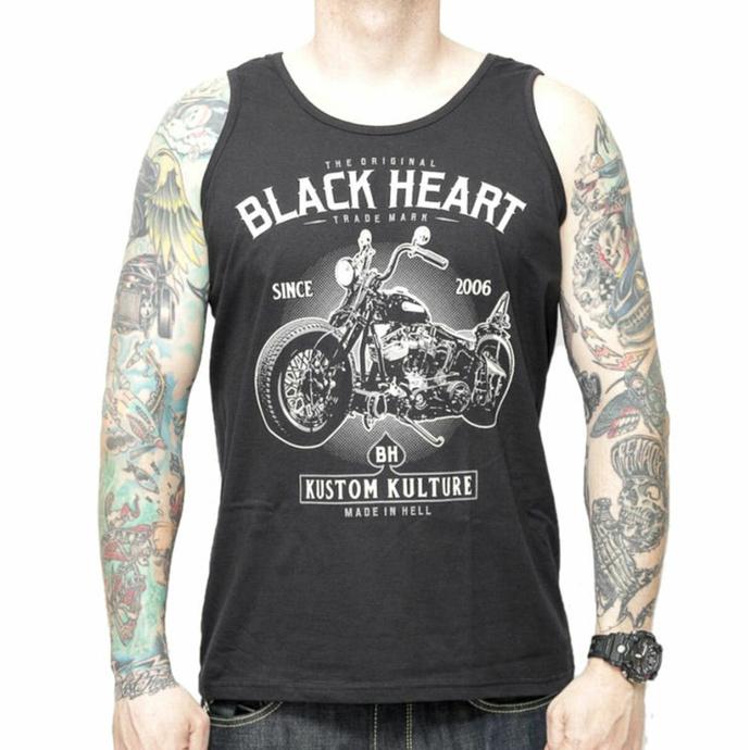 Herren Tanktop BLACK HEART - MOTOR CYCLE - SCHWARZ