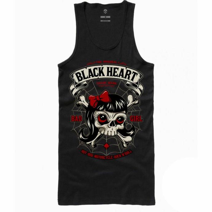 Damen Tanktop BLACK HEART - LADY LUCK - SCHWARZ