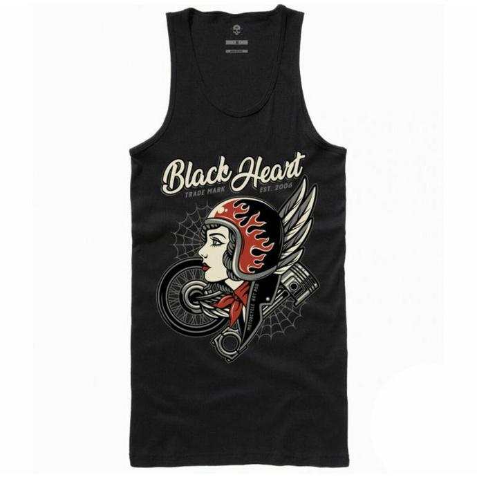 Damen Tanktop BLACK HEART - MOTOR CYCLE GIRL - SCHWARZ
