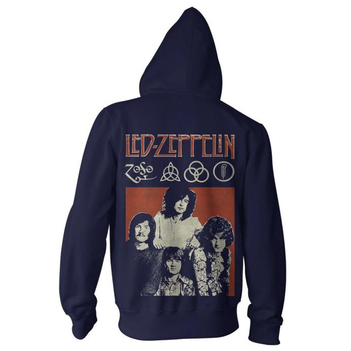 Herren Hoodie Led Zeppelin - Photo Navy
