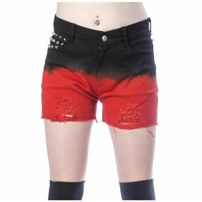 Damen Shorts VIXXSIN - GAIA - SCHWARZ/ROT