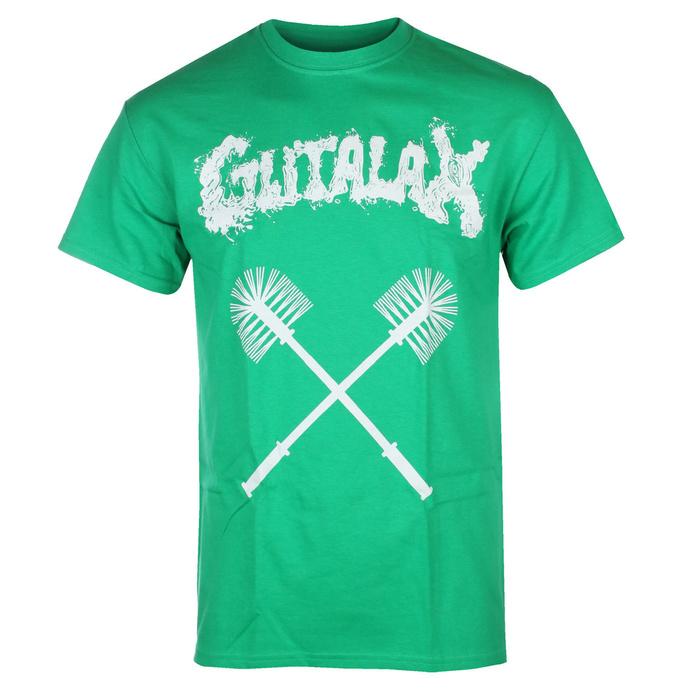 Herren T-Shirt GUTALAX - toilet brushes - grün - ROTTEN ROLL REX