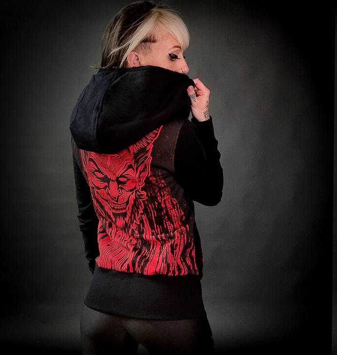 Damen Hoodie HYRAW - LUCIFER - ROT
