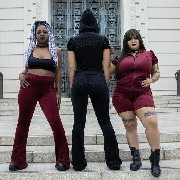 Damen Shorts KILLSTAR - Shes Deadly Lace - BURGUNDY