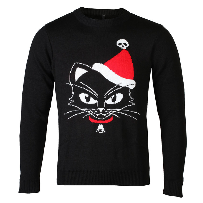 Damen Pullover ALCHEMY GOTHIC - Black Cat