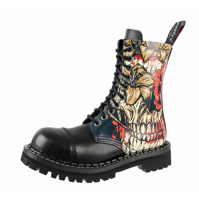 Schuhe Boots STEADY´S - 10-Loch - Schädel Skull