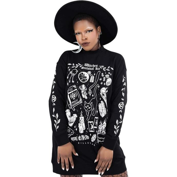 Damenpullover (Kleid) KILLSTAR - Überleben Bausatz Pullover - Schwarz
