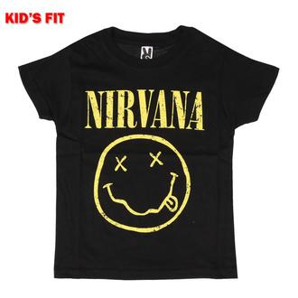 Kinder T-shirt Nirvana - Yellow Smiley - ROCK OFF, ROCK OFF, Nirvana