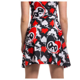 Damen Kleid KILLER PANDA - CARD - SCHWARZ / ROT, KILLER PANDA