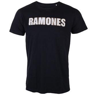 Herren T-Shirt Metal Ramones - Logo & Seal Applique Slub - ROCK OFF, ROCK OFF, Ramones