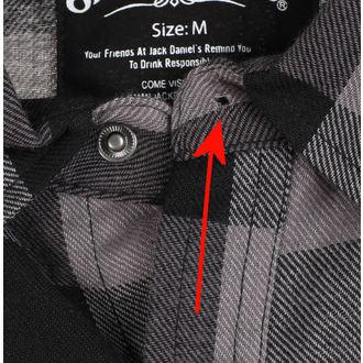Herren Hemd Jack Daniels - Checks - Schwarzgrau - BESCHÄDIGT, JACK DANIELS