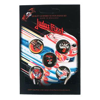 Ansteckbutton Set Judas Priest - RAZAMATAZ, RAZAMATAZ, Judas Priest