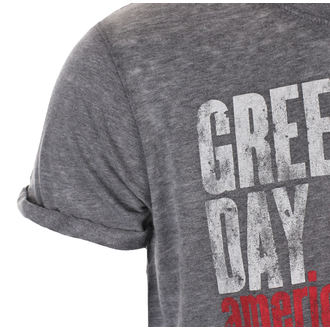 Herren T-Shirt Metal Green Day - American Idiot Vintage - ROCK OFF, ROCK OFF, Green Day