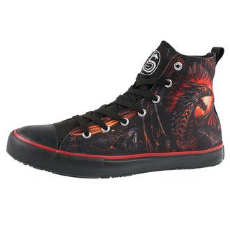 Herren High Top Sneakers - DRAGON FURNACE - SPIRAL, SPIRAL
