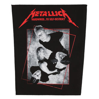 Aufnäher groß METALLICA - HARDWIRED CONCRETE - RAZAMATAZ, RAZAMATAZ, Metallica