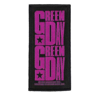 Aufnäher GREEN DAY - PURPLE LOGO - RAZAMATAZ, RAZAMATAZ, Green Day