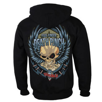 Herren Hoodie Five Finger Death Punch - Trouble - ROCK OFF, ROCK OFF, Five Finger Death Punch