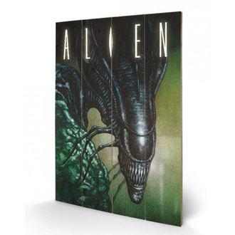 Holzbild Alien - (Creep) - PYRAMID POSTERS, PYRAMID POSTERS, Alien: Das unheimliche Wesen aus einer fremden Welt
