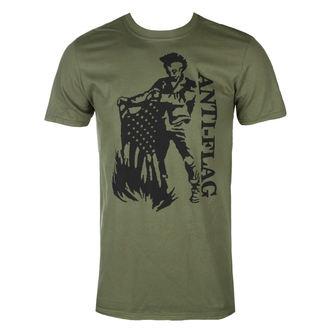 Herren T-Shirt Metal Anti-Flag - Flag Burner Green - KINGS ROAD, KINGS ROAD, Anti-Flag