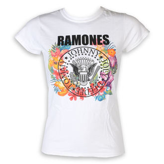 Damen T-Shirt Metal Ramones - Circle Flowers - ROCK OFF, ROCK OFF, Ramones
