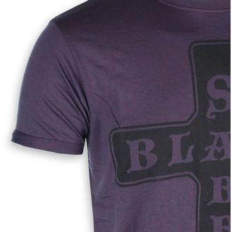Herren T-Shirt Meral Black Sabbath - Ausbrennen Navy / Rot - ROCK OFF, ROCK OFF, Black Sabbath