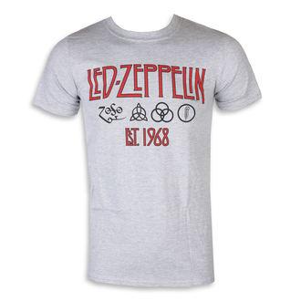 Herren T-Shirt Metal Led Zeppelin - Symbols Est 68 Sports Grey, NNM, Led Zeppelin