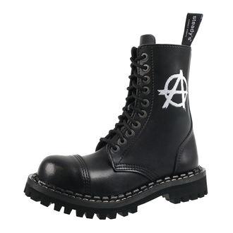 Unisex Lederstiefel Boots - STEADY´S - STE/10/H_Anarchy weiß