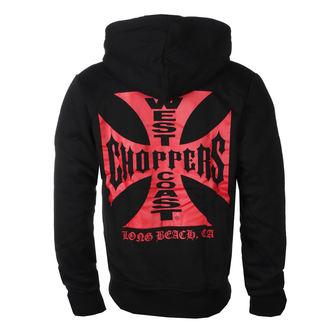 Herren Hoodie - RED OG CROSS - West Coast Choppers, West Coast Choppers