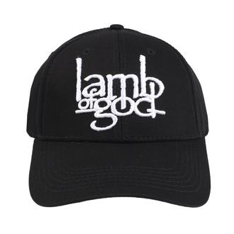 Kappe Cap Lamb Of God - Logo - ROCK OFF, ROCK OFF, Lamb of God