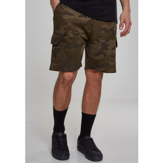 Herren Shorts URBAN CLASSICS - Camo Cargo Terry, URBAN CLASSICS