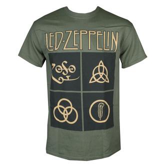 Herren T-Shirt Metal Led Zeppelin - GOLD SYMBOLS & BLACK SQUARES - PLASTIC HEAD, NNM, Led Zeppelin