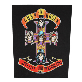 Rückenaufnäher Patch groß Guns N' Roses - Appetite For Destruction - RAZAMATAZ, RAZAMATAZ, Guns N' Roses