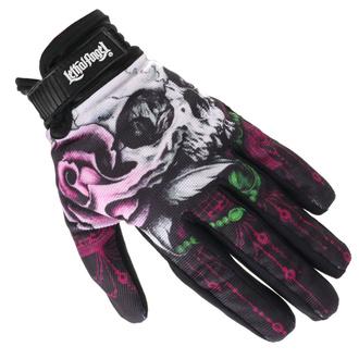 Handschuhe LETHAL THREAT - FLORAL SKULL, LETHAL THREAT