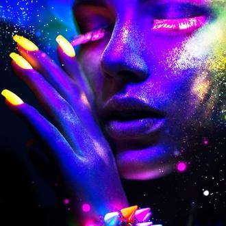 Nagellack STAR GAZER - Neon Pink, STAR GAZER
