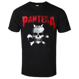 Herren T-Shirt Metal Pantera - Horned Skull Stencil - ROCK OFF, ROCK OFF, Pantera