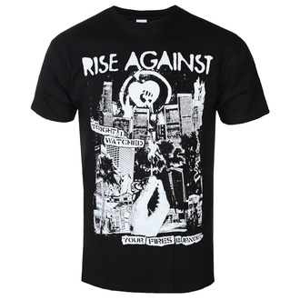 Herren T-Shirt Rise Against - Fires - Schwarz - KINGS ROAD, KINGS ROAD, Rise Against