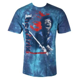 Herren T-Shirt Metal Jimi Hendrix - FIRE - LIQUID BLUE, LIQUID BLUE, Jimi Hendrix