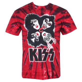 Herren T-Shirt Metal Kiss - BURST - LIQUID BLUE, LIQUID BLUE, Kiss