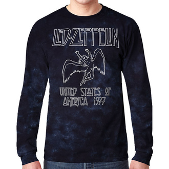Herren Longsleeve Metal Led Zeppelin - USA TOUR '77 - LIQUID BLUE, LIQUID BLUE, Led Zeppelin