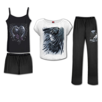 Damen Pyjama (Set) SPIRAL - RAVEN HEART - Gothic Pajama Set, SPIRAL
