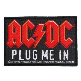 Patch Aufnäher AC / DC - Plug Me In - RAZAMATAZ, RAZAMATAZ, AC-DC