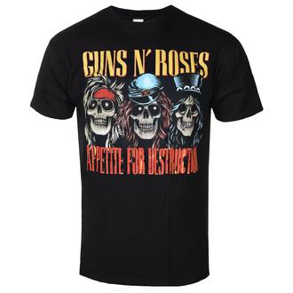 Herren T-Shirt Metal Guns N' Roses - AFD SKULLS BLK - BRAVADO, BRAVADO, Guns N' Roses