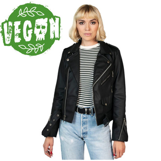 Damen (Biker) Jacke STRAIGHT TO HELL - Vegan Commando II - Schwarz, STRAIGHT TO HELL