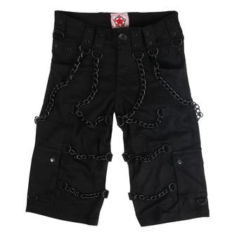 Herren Shorts BLACK PISTOL - Chain - Denim Schwarz, BLACK PISTOL